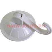 Крючок бытовой на вакуумной присоске (белый)