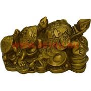 Три черепахи Фу-Лу-Шу из полистоуна (GV-78) 100 шт/кор