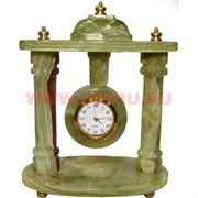 Часы из оникса «Беседка» 16 см