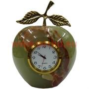 Часы «Яблоко» большие 10 см (3 дюйма) из оникса