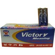 Батарейки алкалиновые Victory АА 40 шт, цена за упаковку