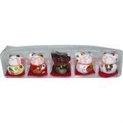 Коты манеки неко керамические малые 5в1