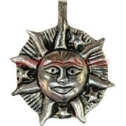 """Подвеска на шею """"Солнце с лучами"""" из мельхиора (Индия)"""