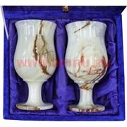 Набор из 2 бокалов 16 см (3х8) из оникса в бархатной коробочке