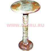 Столик из оникса малый 12х12 дюймов столешница (h-60 см, d-30)