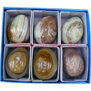 """Яйцо из оникса 5 см (1,5""""), цена за упаковку из 6 штук"""