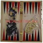 Шахматы и нарды 2-в-1 деревянные 29х29 см 100 шт/кор