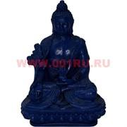Статуэтка Будды синяя из полистоуна 12 см