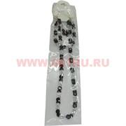 Набор:подвеска,браслет и серьги из циркона черно-белый цвет