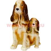 Две собаки спаниеля из фарфора 15 см (символ 2018 года)