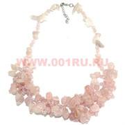 Бусы из натур.камня 45-48 см розовый кварц