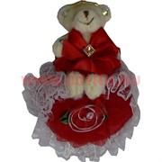 Мишка с сердечком 4 вида (107) цена за 24 шт