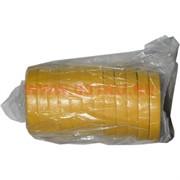 Флористическая лента желтая 50 м, цена за 12 штук