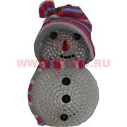 Снеговик светящийся (922) в капюшоне и шарфе