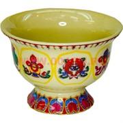 Чаша буддийская для подношений цветная, цена за уп 8 шт (с узорами)