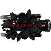 "Заколка для волос (CJ2-832) ""черный цветок"" цена за 12 штук"
