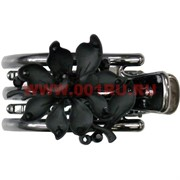 "Заколка для волос (CJ2-833) ""черный цветок"", цена за 12 штук"