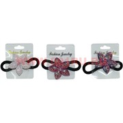 """Резинка для волос (CJ2-579) """"цветочки"""" цвета в ассортименте, цена за 48 штук"""