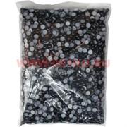 """Жемчужины """"половинки"""" для рукоделия (JS-C38) 8мм 500 гр цвет черный"""