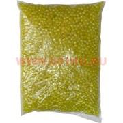 Жемчужины бусы для рукоделия 4мм желтый перламутр 500 гр
