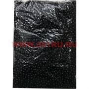 Жемчужины бусы для рукоделия 8 мм черные 500 гр