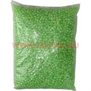 Жемчужины бусы для рукоделия 8 мм салатовые 500 гр