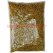 Жемчужины бусы для рукоделия 8 мм золотые 500 гр