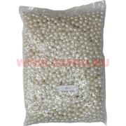 Жемчужины бусы для рукоделия 8 мм белые 500 гр
