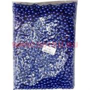 Жемчужины бусы для рукоделия 8 мм (P-57) синие 500 гр