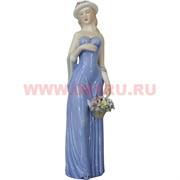 Девушка с корзиной цветов (002) 30 см, фарфор