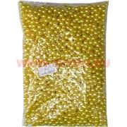 Жемчужины бусы для рукоделия 8 мм (P-57) золотой перламутр 500 гр
