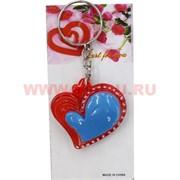 """Брелок """"Сердце цветное"""" (DLK-06) из полистоуна, цена за 120 штук"""