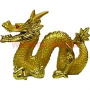 Дракон из полистоуна (11 см высота) под золото