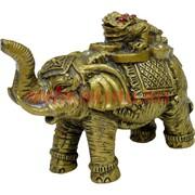 Нецке, жабка на слонике (хобот вверх) 8,5 см