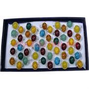 Набор колец (HR-S-932) 50 шт раз. 17-19 под янтарь цена за упаковку